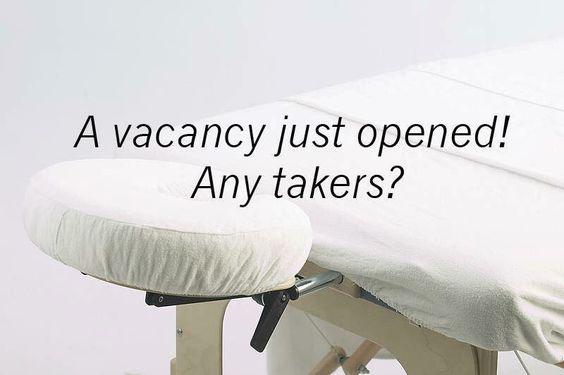 Vacancy massage