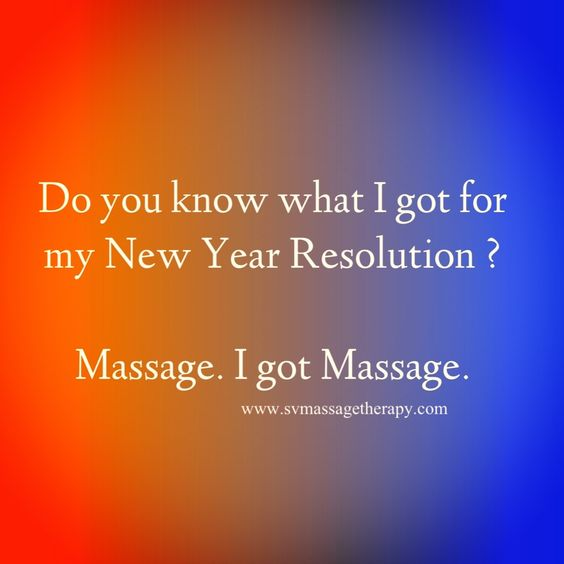 Massage resolution