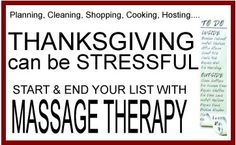 Massage thanksgiving